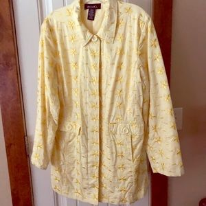 Vintage Dennis Basso Yellow Rauncoat/Trench Sz Lg